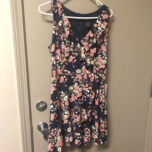 *NWT* Navy Floral Dress